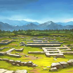 黒海古代村の遺跡(女だけの部族)の画像