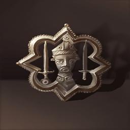 巡礼者の印(ブロンズ人面紋章)
