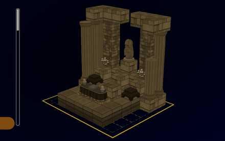 女神像の祭壇の設計図