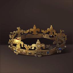 宝石と黄金の王冠(金メッキの王冠)の画像