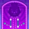 紫のドアの画像