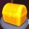 黄色い宝箱の画像