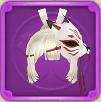 白い狐の画像