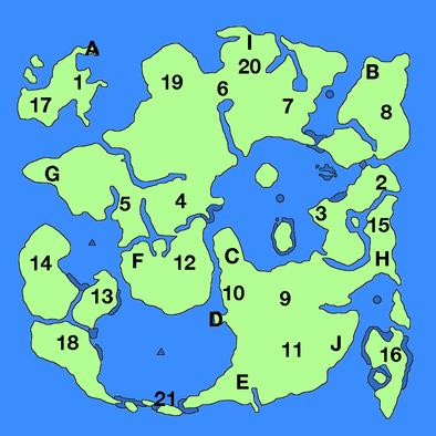 下の世界ワールドマップ