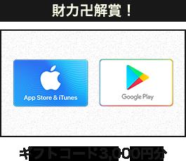 財力卍解賞!ギフトコード 3000円分
