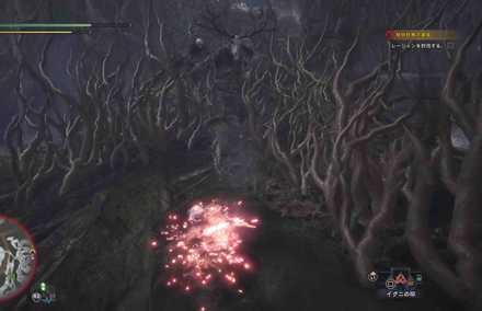木の根を使った攻撃に注意
