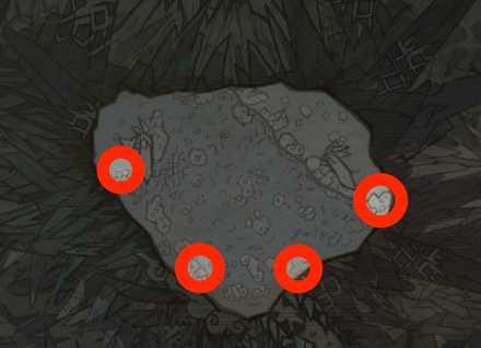 落石の位置