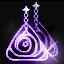 ルームティスの紫イヤリング画像