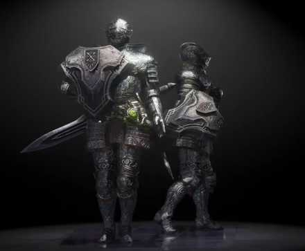 Silver Knight Layered Armor