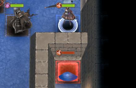 壁越しに敵を倒す画像