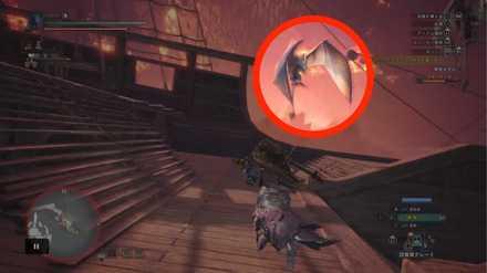 翼竜に捕まって障壁に移動