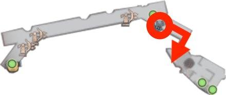 東端の大砲を撃ってから船上に飛び降りる