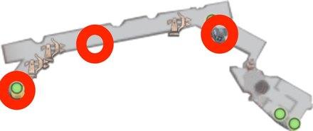 障壁上の大砲を撃って船に移動