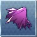 ただよう紫の布切れ画像