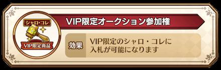 VIP限定オークション参加券