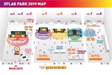 エックスフラッグパーク2019 会場マップ