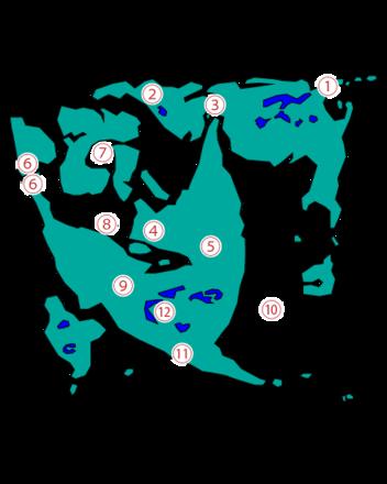 ドラクエ2ダンジョンの場所マップ