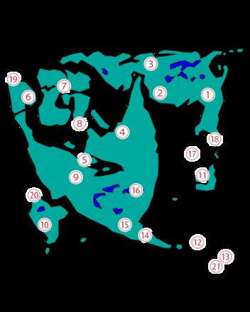 ドラクエ2町の場所ワールドマップ