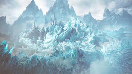 渡りの凍て地 氷壁エリア