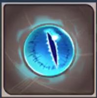 青緑の眼の画像