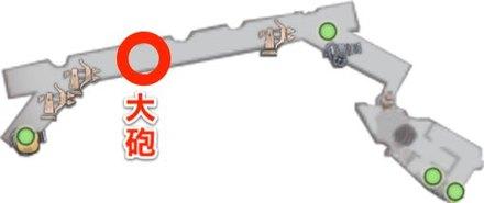 障壁 大砲の位置