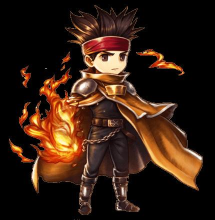 炎を纏う英雄エルクの画像