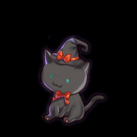 黒猫キナコ