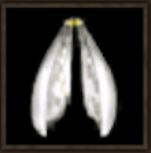 巨大女王アリの銀色の羽画像