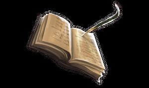受容の羽根ペンと許可の本