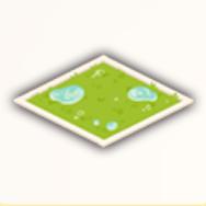 雨に濡れた芝生の画像