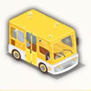 黄色いスクールバスの画像