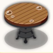 雨の立ち食い席(傘なし)の画像