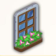 花飾りの窓の画像