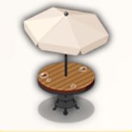 雨の立ち食い席の画像