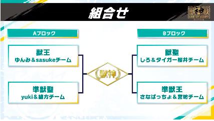 獣神戦のトーナメント表