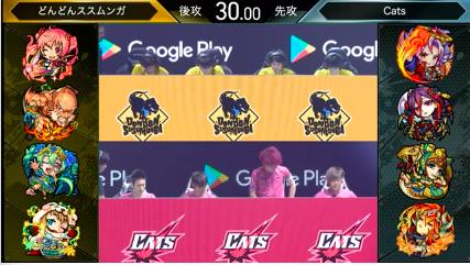どんどんススムンガ vs Cats(緑剣の支配者)