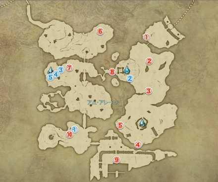 アムアレーンのマップ画像