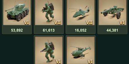特訓する兵種を選択