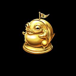 金のトードトロフィーの画像