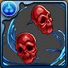 双面の赤きドクロのピアスの画像