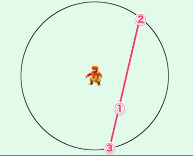 「かくれているポケモン」の位置を特定する手順4