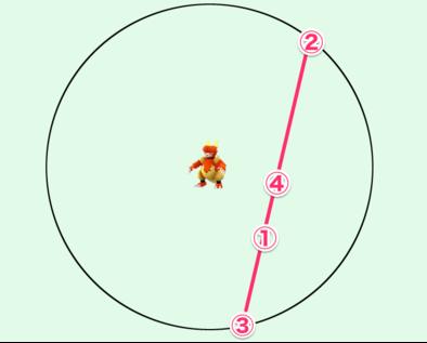 「かくれているポケモン」の位置を特定する手順5