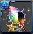 パズドラアイランドの貝殻【虹】の画像