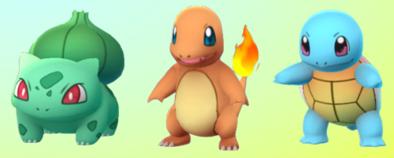 ポケモンGO最初の3匹画像