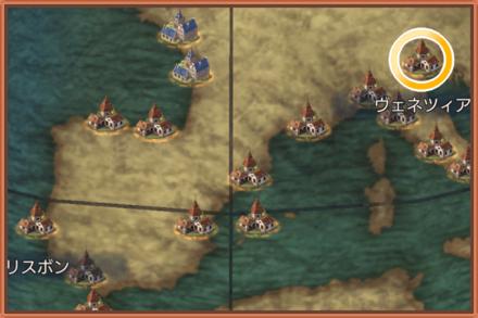 ヴェネツィアのマップ画像