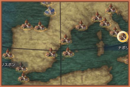 ナポリのマップ画像