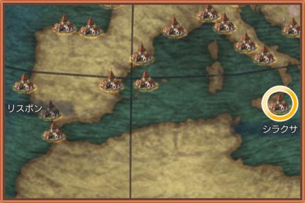 シラクサのマップ画像