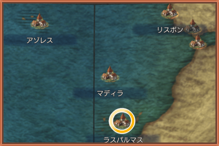ラスパルマスのマップ画像