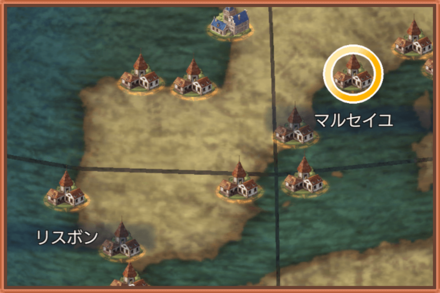 マルセイユのマップ画像