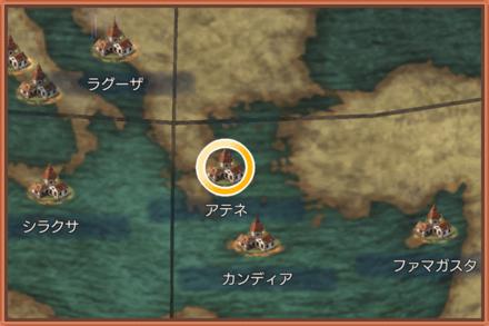 アテネのマップ画像